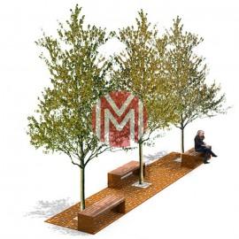 Grilaj de protectie pentru copaci GP08